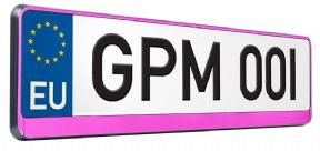 Pink Number Plate Surround